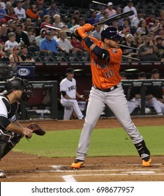 Yuli Gurriel 1st baseman for the Houston Astros at Chase Field in in Phoenix AZ USA August 15,2017.