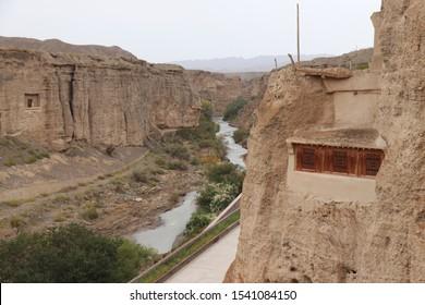 The Yulin Cave in Guazhou, Gansu province , China.