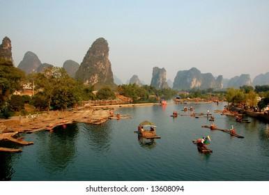 Yulong River in Guilin, Guangxi  Province, China