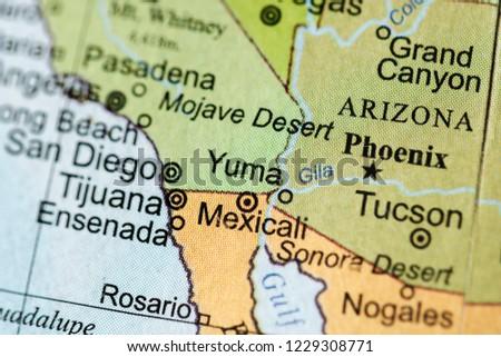 Yuma USA On Geography Map Stock Photo (Edit Now) 1229308771 ... Yuma Usa Map on san antonio usa, charleston usa, detroit usa, congress usa, cleveland usa, phoenix usa, salt lake city usa, boise usa, santa barbara usa, dallas usa, reno usa, cincinnati usa, oakland usa, philadelphia usa, milwaukee usa, jackson usa, buffalo usa, san francisco usa, paris usa, miami usa,