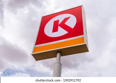 YUMA,AZ/USA - APRIL 12, 2019: Circle K gasoline station and trademark logo.