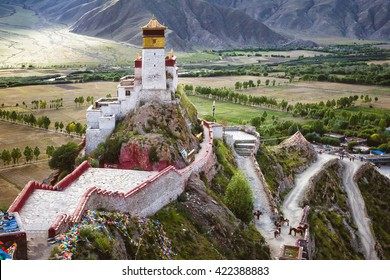 The Yumbulagang Palace over the Tsetang valley in Tibet, China