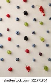 Yummy berry mix background, food pattern