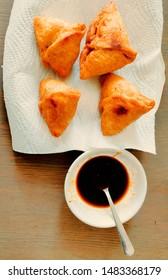 Yummy Home Made samosa chutni  - Shutterstock ID 1483368179
