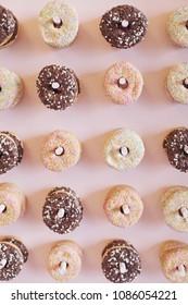A yummy pink donut wall