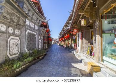 Yunnan, Lijiang: February 2017: Yunnan, Lijiang is a beautiful ancient town, is the Naxi residence.