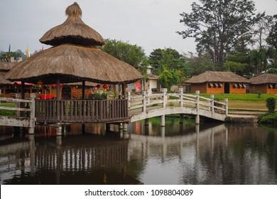 Yunnan Style Chinese Village at Pai, North Thailand