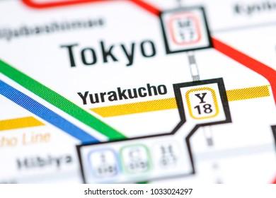 Yurakucho Station. Tokyo Metro map.
