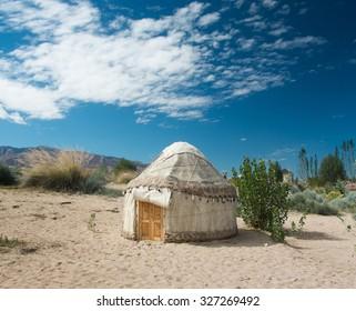 Yurt camp in Tosor, Issyk-Kul, Kyrgyzstan
