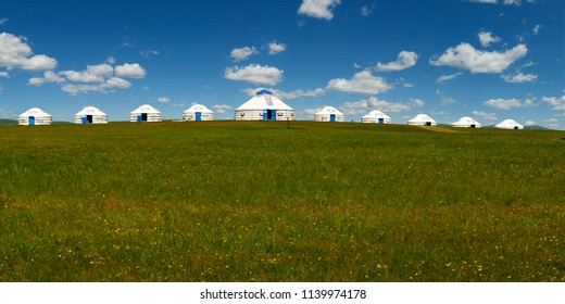 yurt  in the grassland of Mongolia