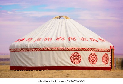 Yurt. National ancient house of the peoples of Kazakhstan and Asian countries. National Housing