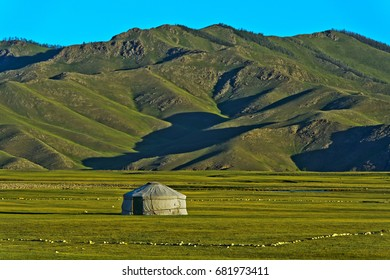 Yurt of a nomad family in the Orkhon Valley, Mongolia