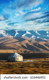 Yurt at the silk  way road in Kazakhstan