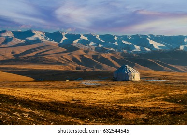Yurt in the steppe of Kazakhstan