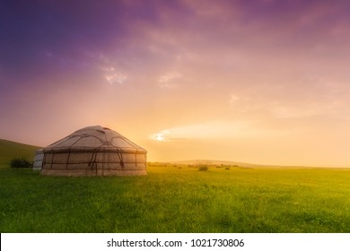Yurt at sunrise