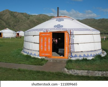 Yurt in the tourist camp in Mongolia