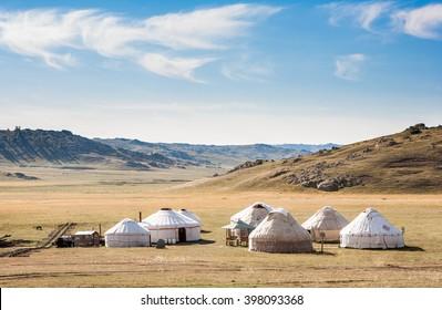 Yurta- traditional dwelling of xinjiang people