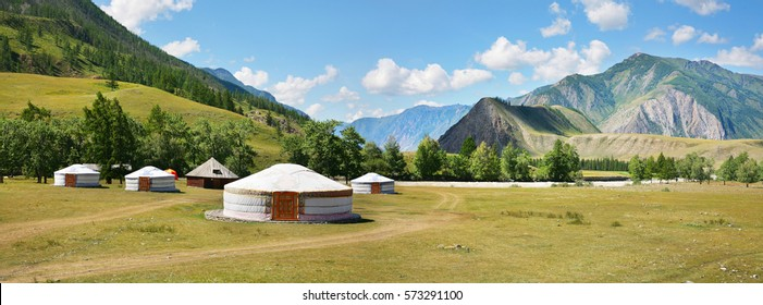Yurts in the Altai Mountains