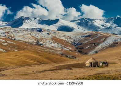 Yurts in the Kazakhstan Mountains, Almaty