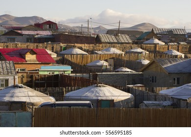 Yurts in the urban area of Ulaanbaatar, Mongolia
