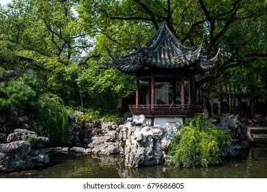 Yuyuan Garden at the center of Shanghai, china 10/12/2017