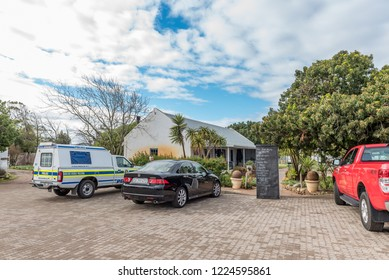YZERFONTEIN, SOUTH AFRICA, AUGUST 20, 2018: A road stall and winery next to road R27 near Yzerfontein on the Atlantic Ocean coast in the Western Cape Province