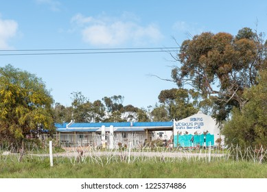 YZERFONTEIN, SOUTH AFRICA, AUGUST 20, 2018: The Iron Pig Weskus Pub near Yzerfontein on the Atlantic Ocean coast in the Western Cape Province