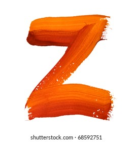 Z - Color letters isolated over the white background