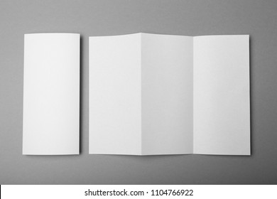Z fold brochure mockup, white paper A4 mockup.