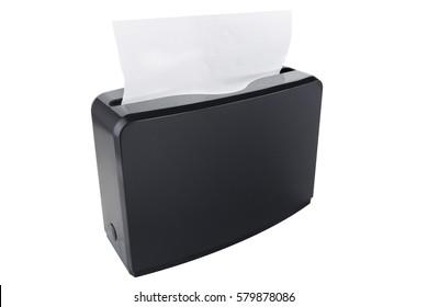 Z type paper towel dispenser, black plastic. Standing paper napkin dispenser.