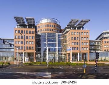 Zaandam, Netherlands, March 2014. Outside view of the headquarters of the Ahold Delhaize company, owner of Albert heijn, Bol.com, Delhaize, Etos and other shopping chains
