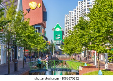 Zaandam, Netherlands - May 08, 2018: Zaandam City Centre View
