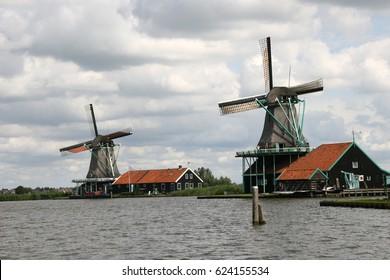Zaanse Schans is a neighbourhood of Zaandam, near Zaandijk in the Netherlands. Windmills Zaanse Schans  It has a collection of well-preserved historic windmills and houses.