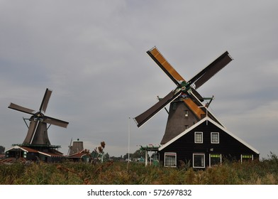 The Zaanse Schans, windmills