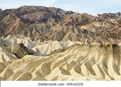 Zabriskie Point, Death Valley, California; the view south in early morning light.