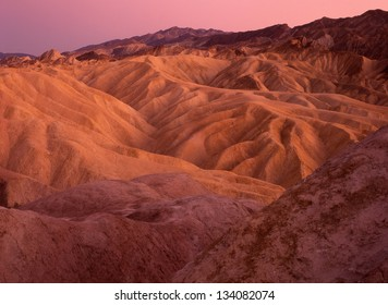 Zabriskie Point, Furnace Creek, Death Valley National Park, CA/Zabriskie Point #2/ The ruts and crevices at Zabriskie Point make good sunrise photos and great hiking trails.