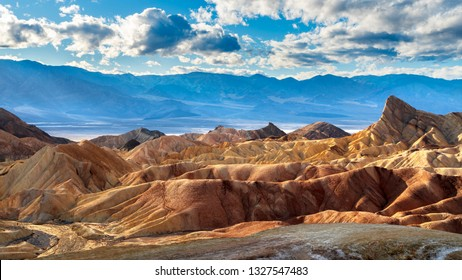 Zabriskie Point panorama in Death Valley National Park, California, USA