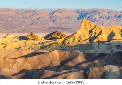zabriskie point at sunset,death valley national park,california,usa.