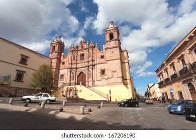 ZACATECAS, MEXICO - DEC 04: The street of ancient city Zacatecas, Mexico, 04 December, 2013. The city Zacatecas is protected by UNESCO