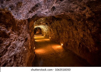 Zacatecas, Mexico; December 26, 2017: El Eden was a mine that the most important time of the mine was during the XVII and XVIII centuries when production was mainly based in silver and gold.