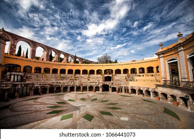 Zacatecas, Zacatecas state, Mexico; 12/28/2017: One of the world's most unusual hotels, Quinta Real Zacatecas is built into the grandstand of the restored San Pedro bullfighting ring.