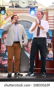 """Zach Galifianakis, Will Ferrell at """"The Campaign"""" Whistle Stop Kick Off, The Grove, Los Angeles, CA 07-17-12"""