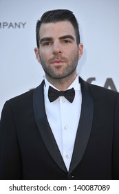 Zachary Quinto at amfAR's 20th Cinema Against AIDS Gala at the Hotel du Cap d'Antibes, France May 23, 2013  Antibes, France