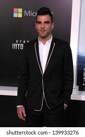 """Zachary Quinto at the """"Star Trek Into Darkness"""" Los Angeles Premiere, Dolby Theater, Hollywood, CA 05-14-13"""