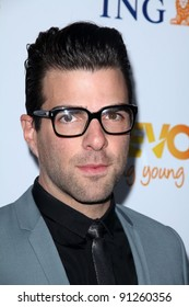 Zachary Quinto at the Trevor Project's 2011 Trevor Live!, Hollywood Palladium, Hollywood, CA 12-04-11