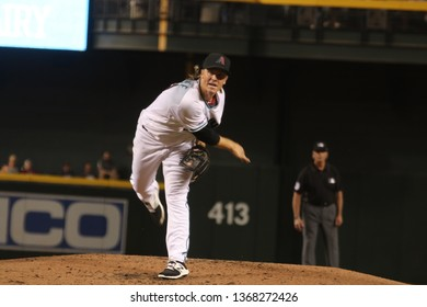 Zack Greinke pitcher for the Arizona Diamondbacks at Chase Field in Phoenix, Arizona/USA April 9,2019.