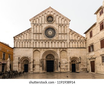 Zadar Cathedral of St. Anastasia in Zadar, Croatia, constructed in the Romanesque style during the 12th and 13th centuries.