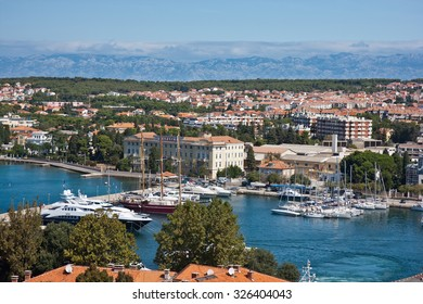 ZADAR, CROATIA - AUGUST 25: Aerial view of the Stari Grad (Old Town) of the Unesco heritage city of Zadar. On 25 August, 2010 in Zadar, Croatia