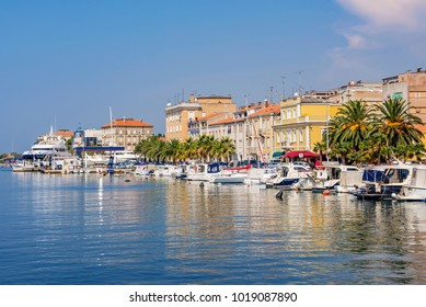 ZADAR, CROATIA - SEPTEMBER 14: View of the Zadar waterfront architecture and harbor area on September 14, 2016 in Zadar