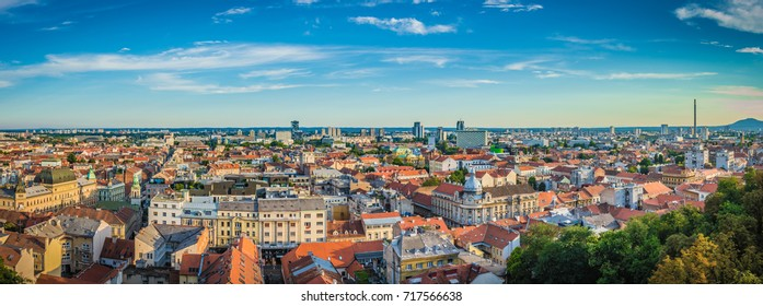 Zagreb Aerial View From Observation Tower